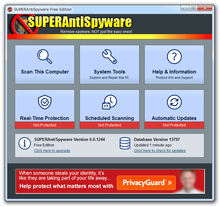 superantispyware 使い方