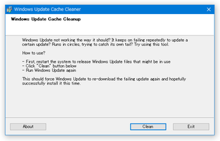 Windows Update Cache Cleaner