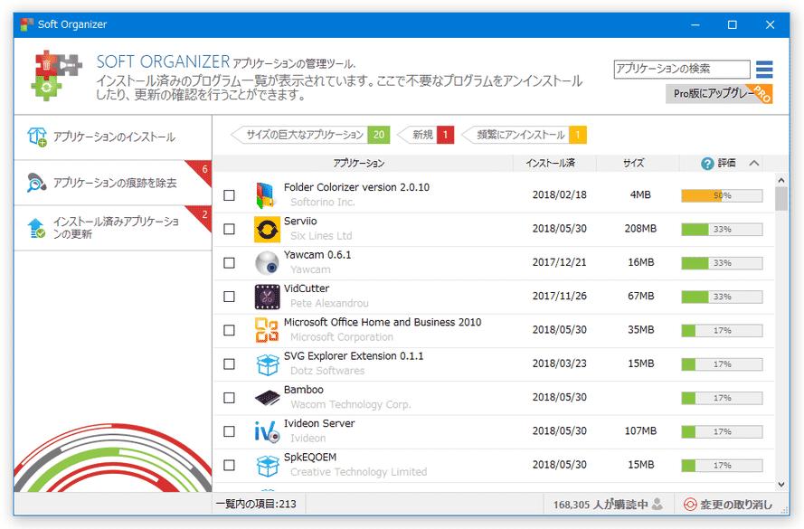 soft organizer のダウンロードと使い方 k本的に無料ソフト フリーソフト