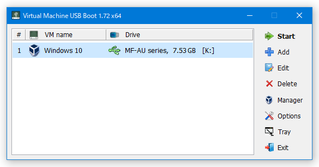 Virtual Machine USB Boot